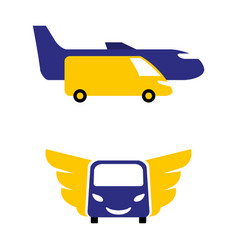 airporttransfer vector image