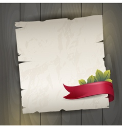 Antique background with red ribbon vector image vector image