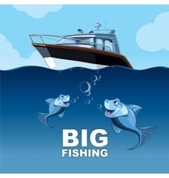 big fishing vector image