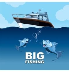Big fishing vector