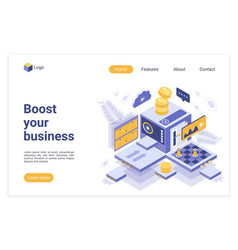 boost your business landing page template vector image