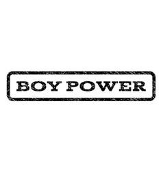 Boy power watermark stamp vector