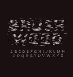 brushwood letters set dry firewood style vector image