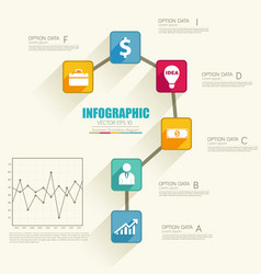 Business web infographic concept vector