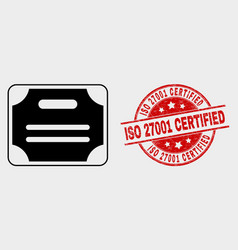 certificate diploma icon and grunge iso vector image
