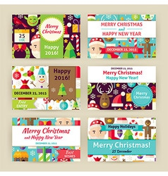 Christmas Winter Holiday Template Invitation vector image