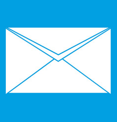 closed envelope icon white vector image