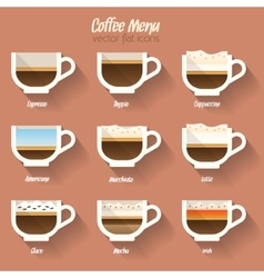 Coffee menu icon vector