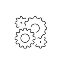 Cogwheels or gears line outline icon vector