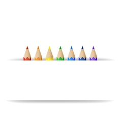 Color pencils and paper banner vector