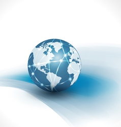 communication world technology business vector image