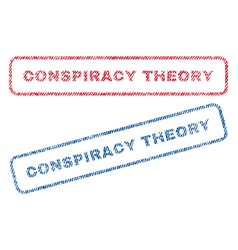 Conspiracy theory textile stamps vector
