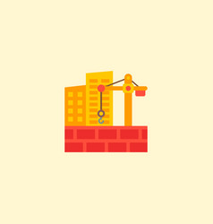 construction site icon flat element vector image