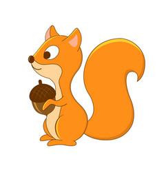 Cute cartoon squirrel forest animals woodlan vector