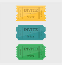 designed cinema tickets close up top view vector image