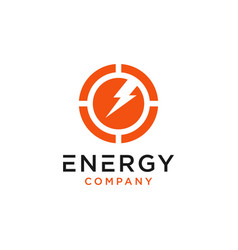 energy chart logo design vector image