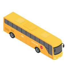 europe school bus icon isometric style vector image