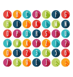 Flat icons alphabet vector