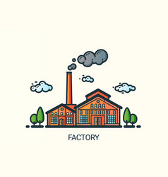 flat line factory vector image