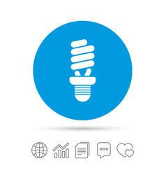 fluorescent lamp bulb sign icon energy saving vector image
