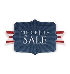 fourth july sale realistic banner vector image