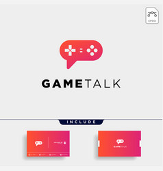 Game talk logo design template icon element vector