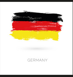 Germany colorful brush strokes painted national vector