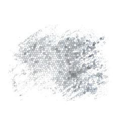gray grunge mosaic background vector image
