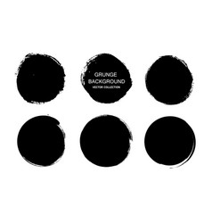 grunge circlesgrunge round shapes dirty artistic vector image
