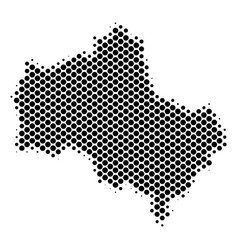 Halftone abstract moscow oblast map vector