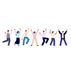happy business team fun friends casual office vector image