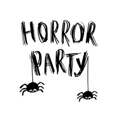 happy halloween with web and vector image