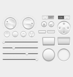 Interface buttons web toggle switch buttons vector