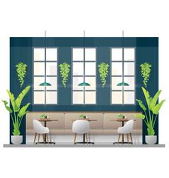 interior scene of modern restaurant vector image
