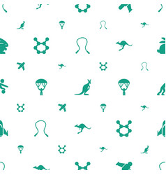 Jump icons pattern seamless white background vector