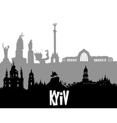 Kiev silhouette vector