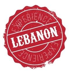 Lebanon stamp rubber grunge vector