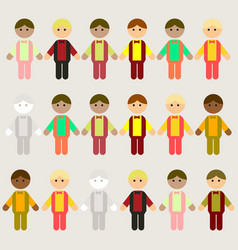 Little boys collection set vector