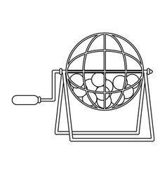Lottery wheel icon vector