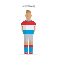 Luxembourg football player Soccer uniform vector