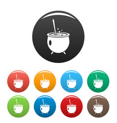 magic cauldron icon simple style vector image