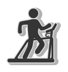 Man trainning cardio vector image