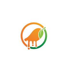 mango fruits logo symbol vector image