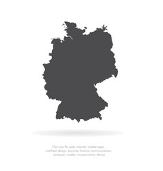 Map germany isolated black vector