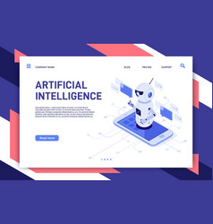 mobile chatbot artificial intelligence chat vector image
