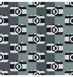 Monochrome camera pattern vector image