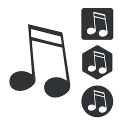 Music icon set 2 monochrome vector