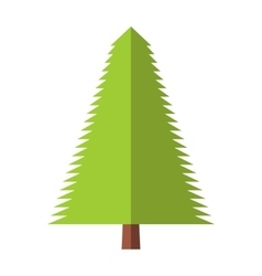 New fir-tree flat icon vector image