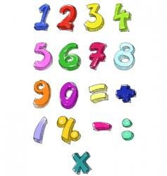 numbers hand written vector image vector image