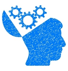 Open Mind Gears Grainy Texture Icon vector